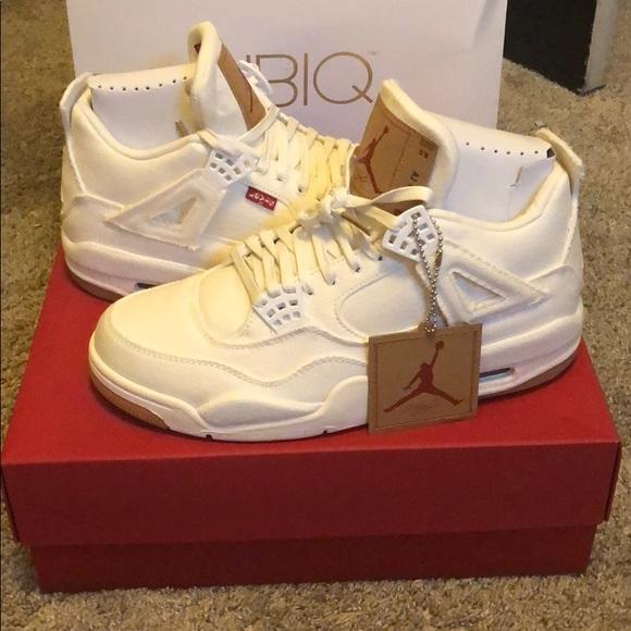 timeless design bb106 b75fe Nike Air Jordan 4 Retro Levi White Dead Stock Boutique